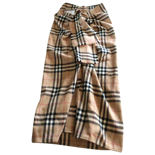 Moschino Beige Wool Skirt