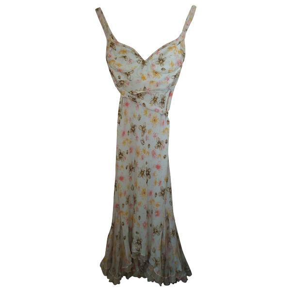 Ermanno Scervino Multicolour Silk Dress