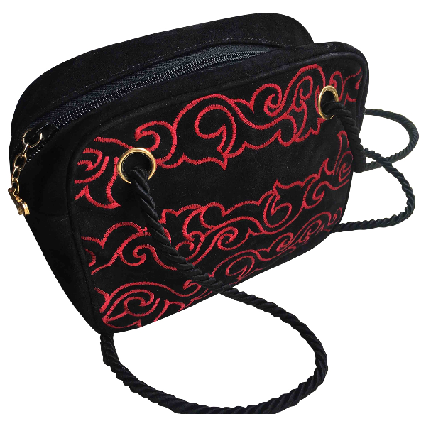 Walter Steiger Black Suede Clutch Bag