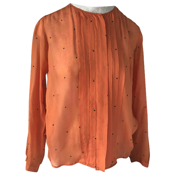 Bellerose Orange Silk  Top