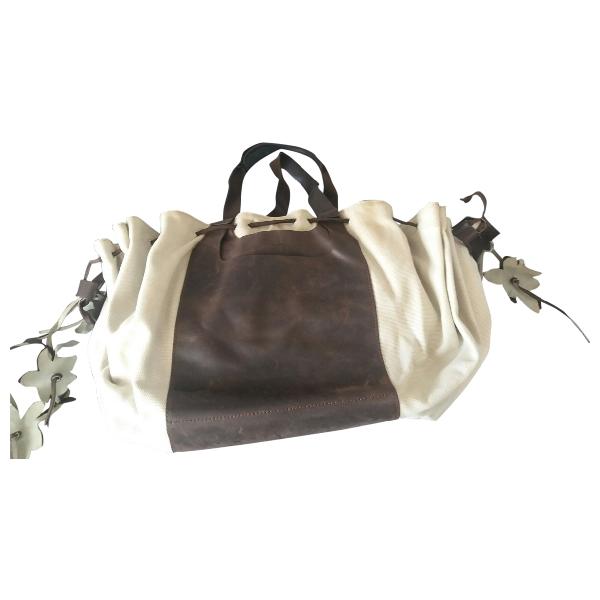 Calvin Klein Beige Leather Handbag