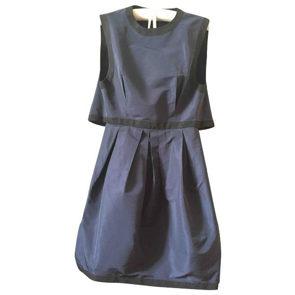 Miu Miu Navy Silk Dress