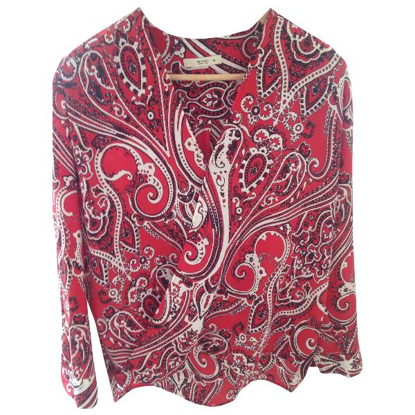 Etro Red Silk  Top