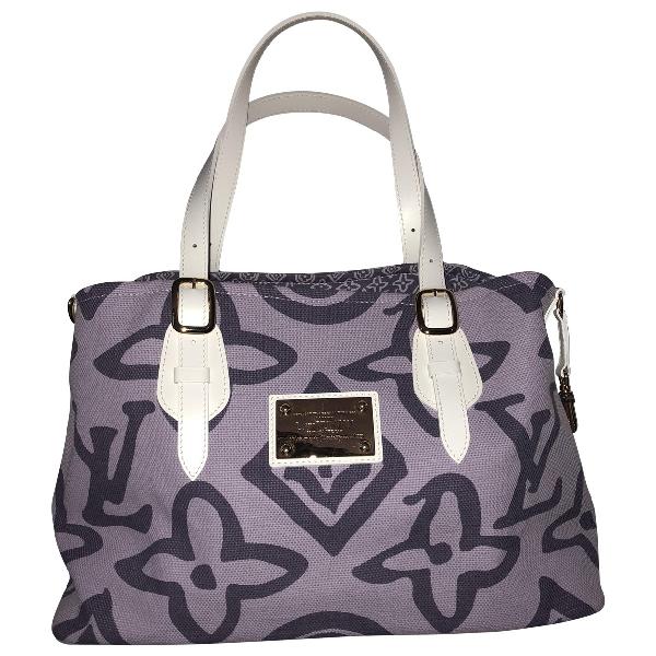 Louis Vuitton Purple Cotton Handbag