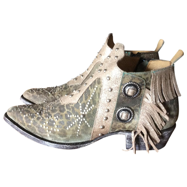 Mexicana Multicolour Leather Ankle Boots