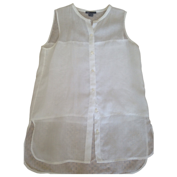 Vince White Cotton  Top