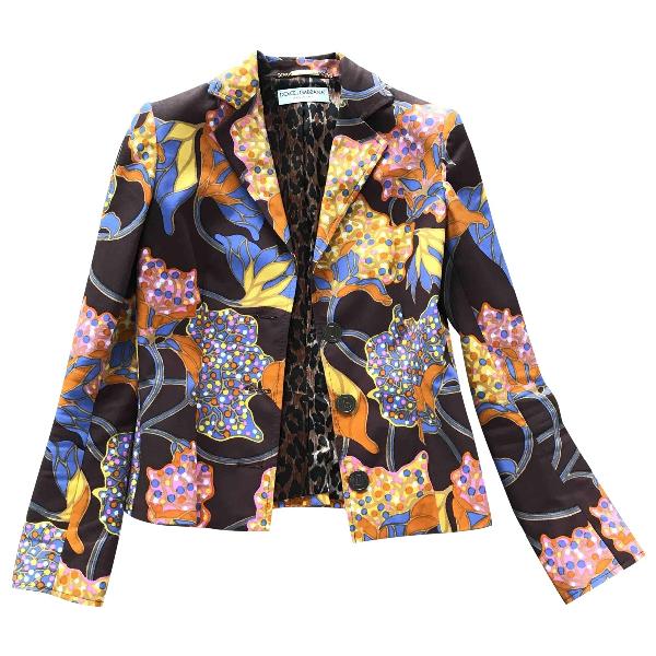 Dolce & Gabbana Multicolour Cotton Jacket