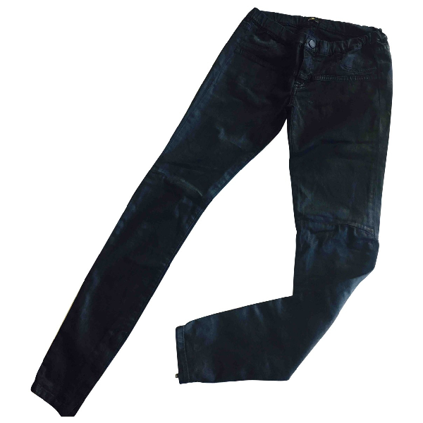 Maje Black Cotton Trousers