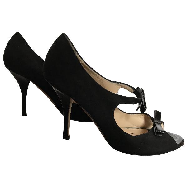 Kate Spade Black Suede Heels