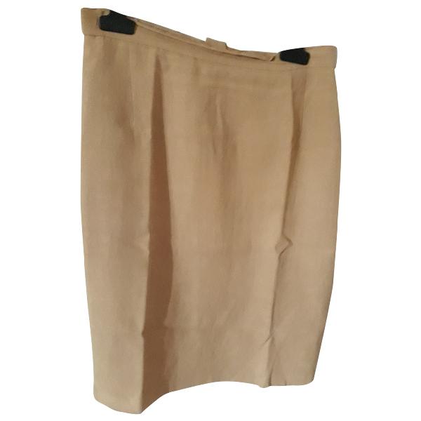 Max Mara Yellow Linen Skirt