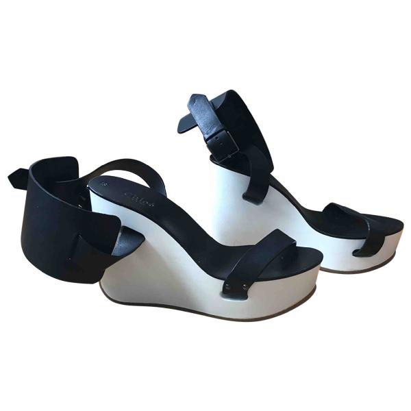 ChloÉ Black Leather Sandals