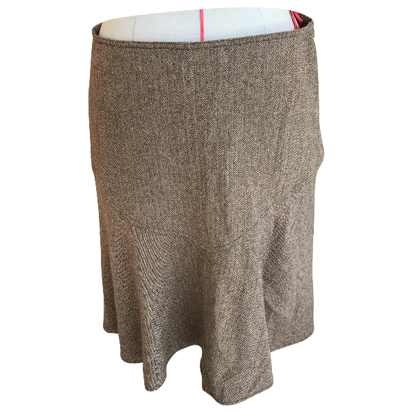 Paul & Joe Brown Wool Skirt