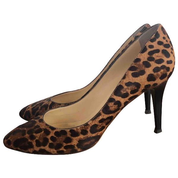 Jimmy Choo Brown Leather Heels