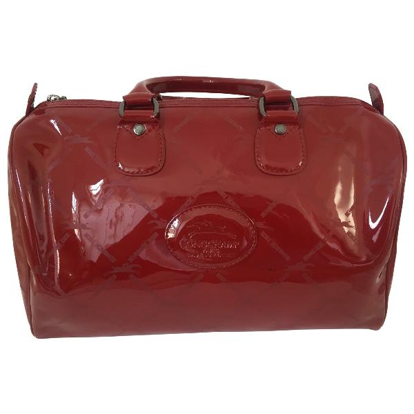 Longchamp Red Patent Leather Handbag