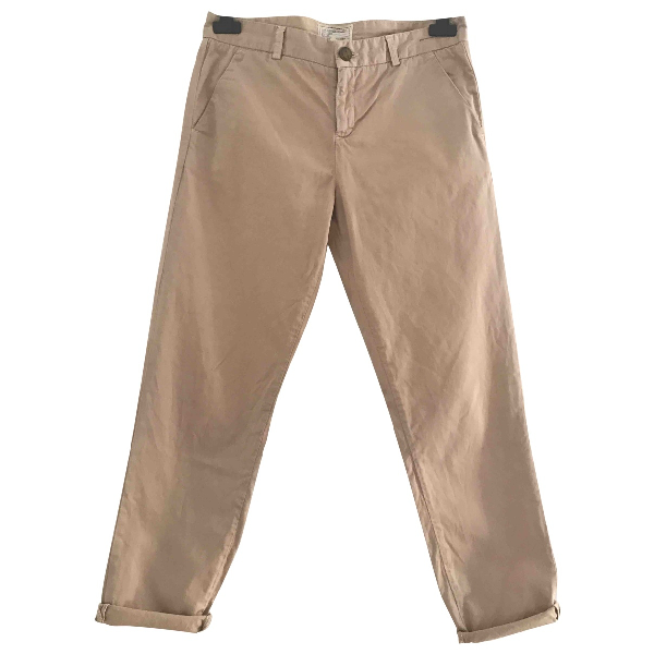 Current Elliott Beige Cotton Trousers