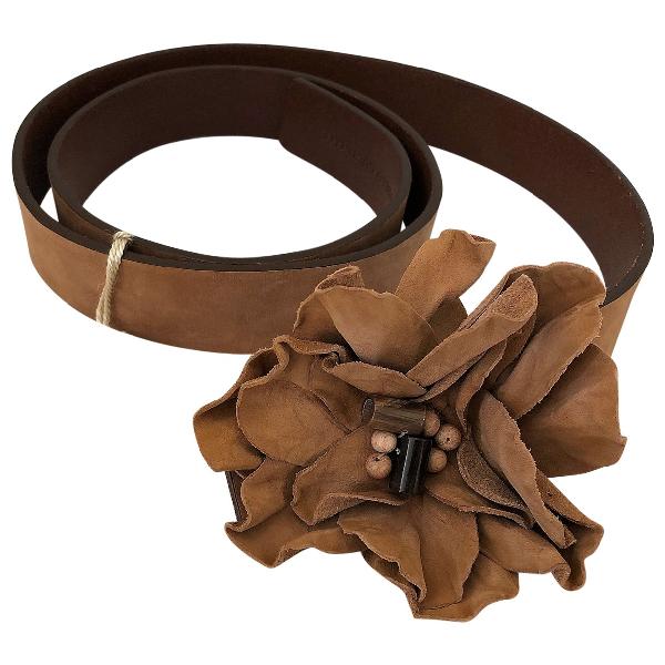 Brunello Cucinelli Camel Leather Belt