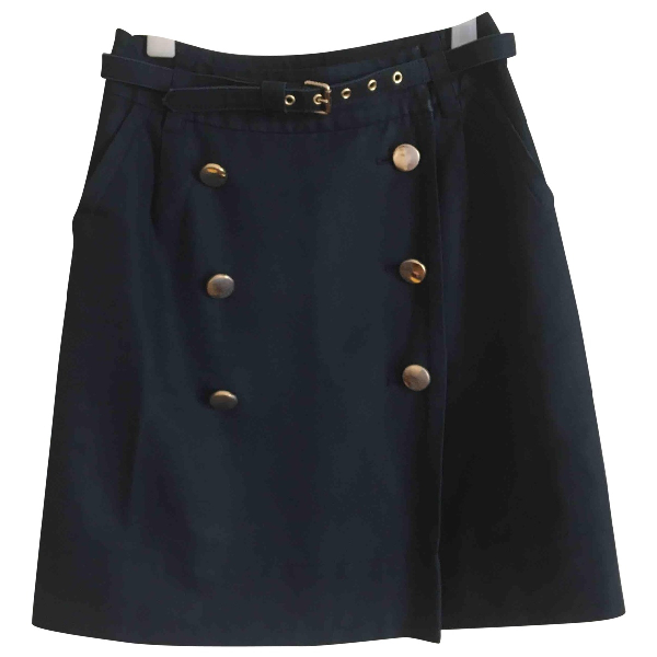 Marc By Marc Jacobs Navy Cotton Skirt