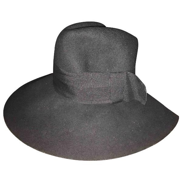 Costume National Black Wool Hat