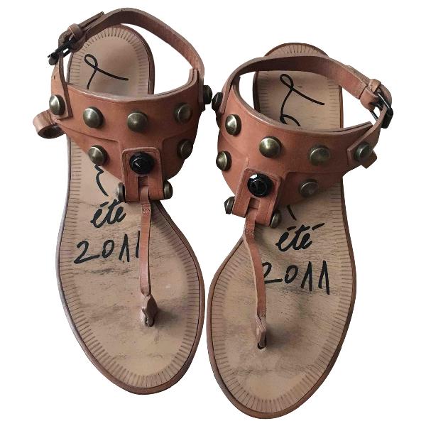 Lanvin Beige Leather Sandals