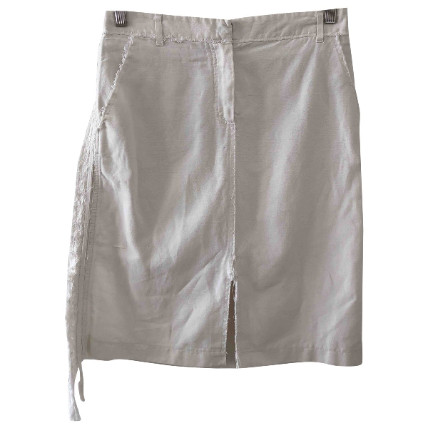Vanessa Bruno White Linen Skirt