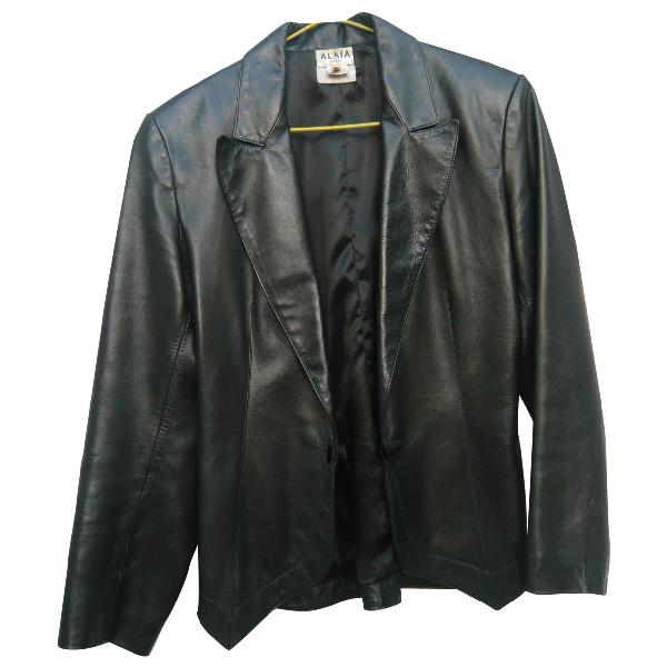 AlaÏa Black Leather Jacket