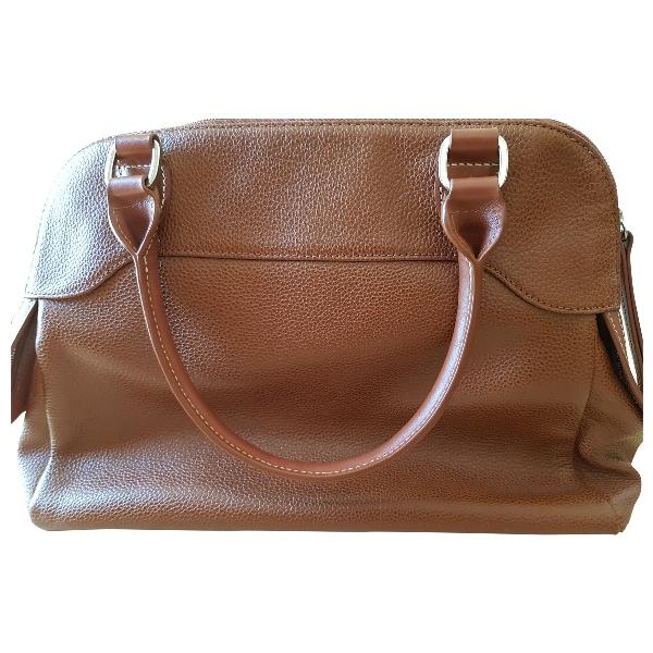Longchamp Camel Leather Handbag