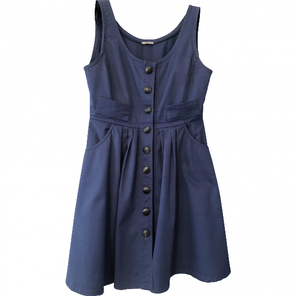 Miu Miu Blue Cotton Dress