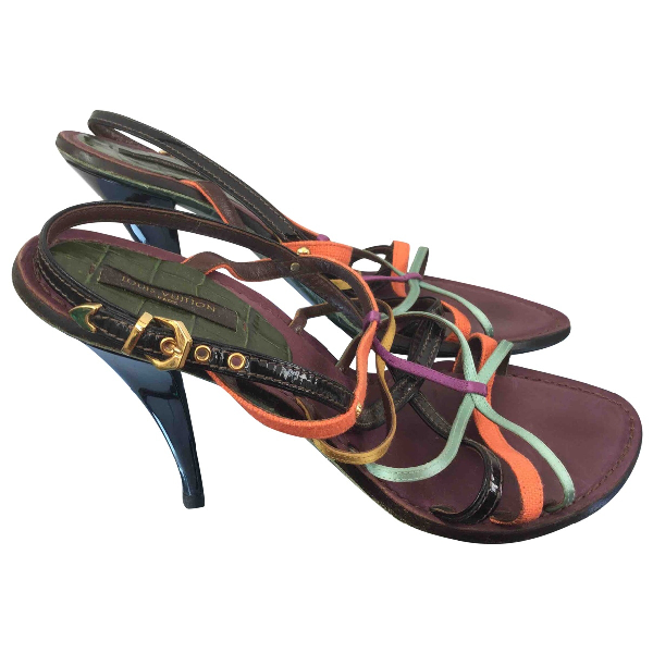Louis Vuitton Multicolour Leather Sandals