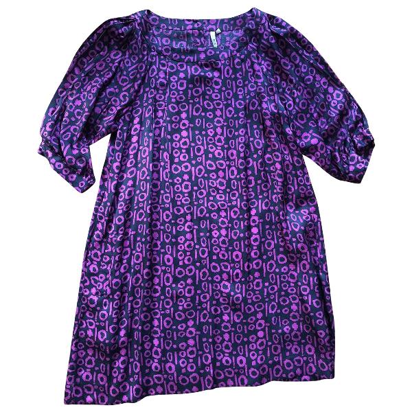 Iro Purple Silk Dress