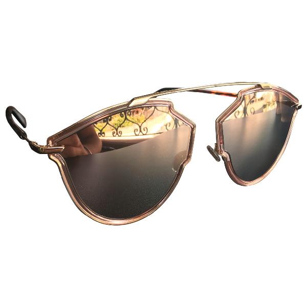 Dior So Real  Pink Metal Sunglasses