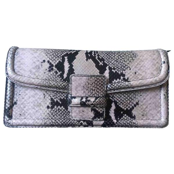 Dries Van Noten Purple Leather Clutch Bag