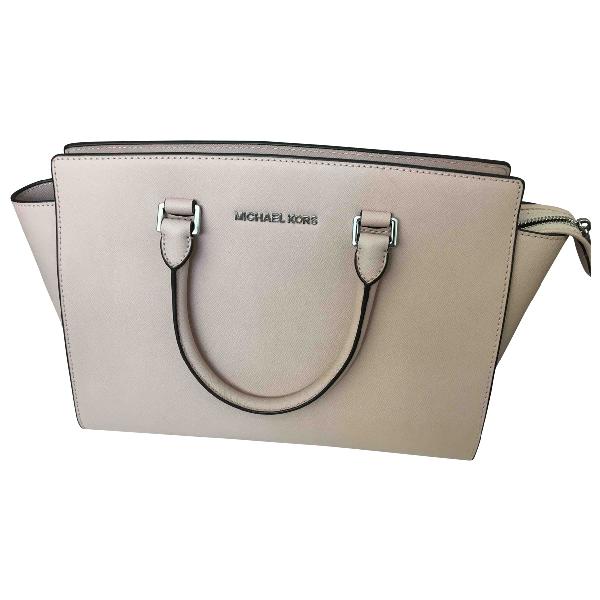 Michael Kors Selma Pink Leather Handbag