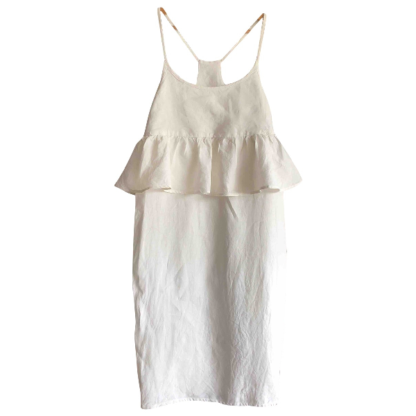 Creatures Of Comfort White Linen Dress