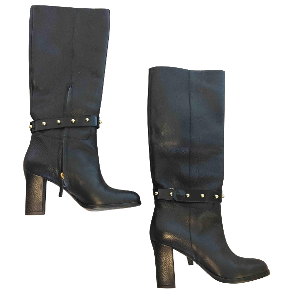 Moschino Cheap And Chic Black Leather Boots