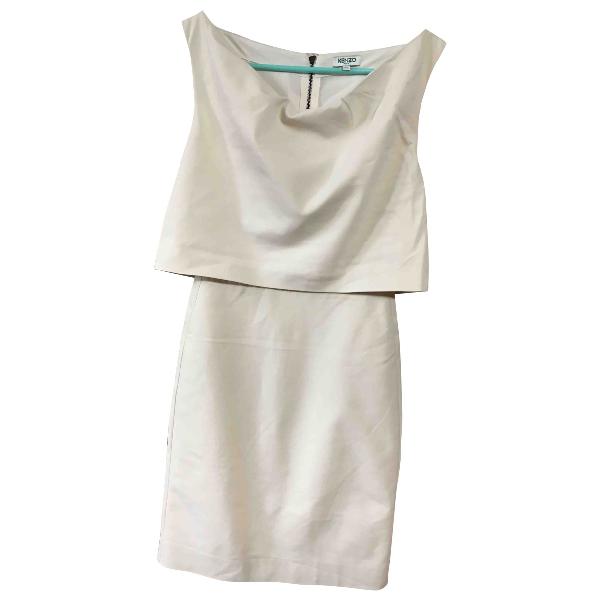 Kenzo Ecru Cotton - Elasthane Dress