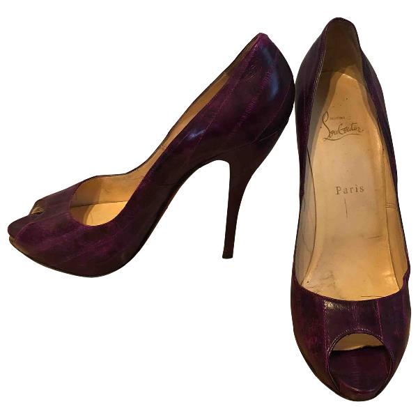 Christian Louboutin Purple Leather Heels