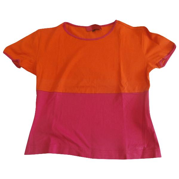 Emanuel Ungaro Orange Cotton  Top
