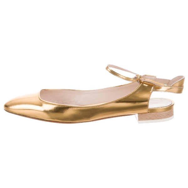 ChloÉ Gold Leather Ballet Flats