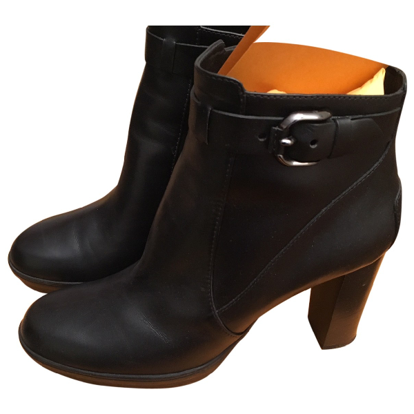 Tod's Black Leather Ankle Boots