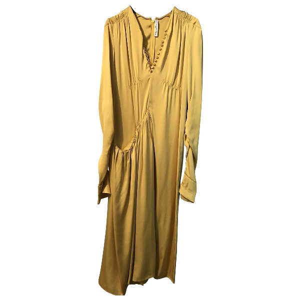 Dior Yellow Silk Dress