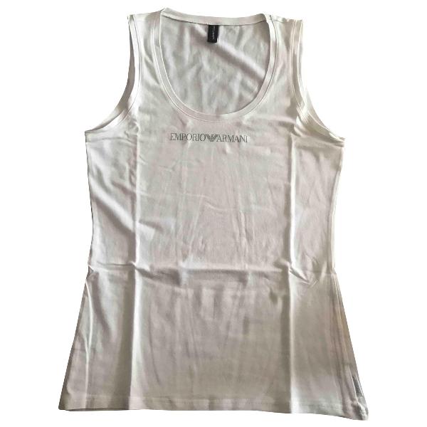 Emporio Armani White Cotton  Top