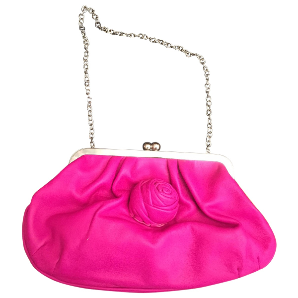 Dkny Pink Leather Handbag