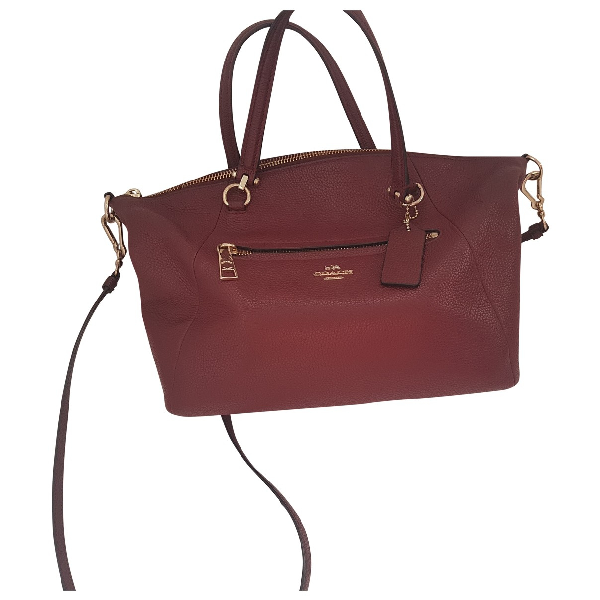 Coach Red Leather Handbag