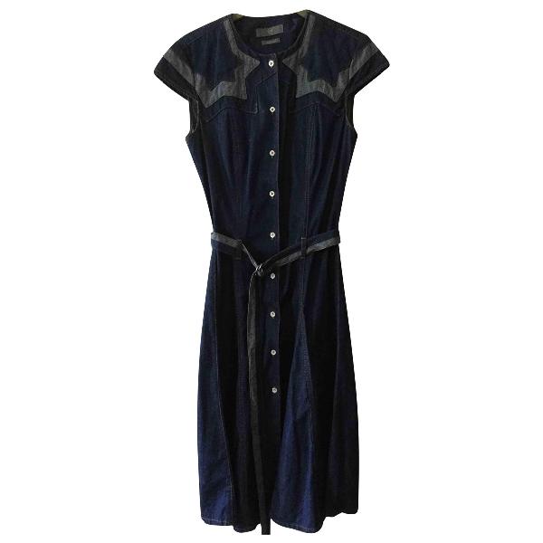 Mcq By Alexander Mcqueen Blue Denim - Jeans Dress