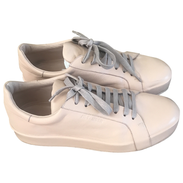 Jil Sander Pink Leather Trainers