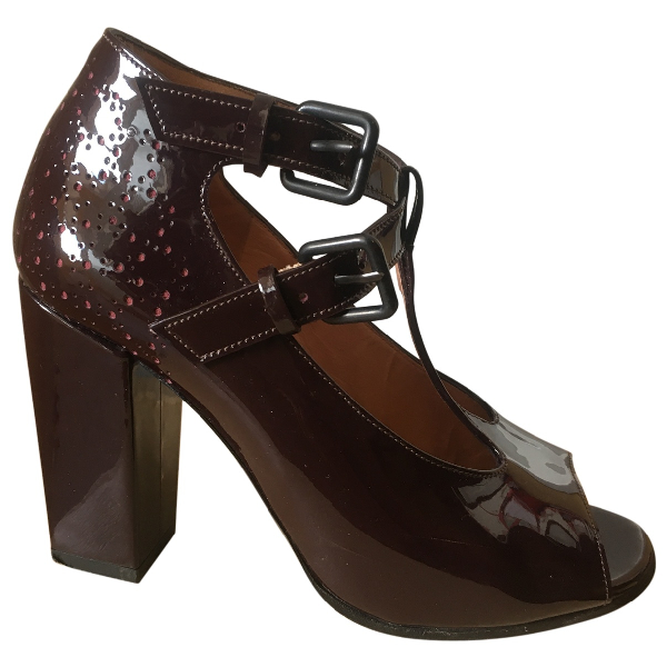 Carven Burgundy Patent Leather Heels