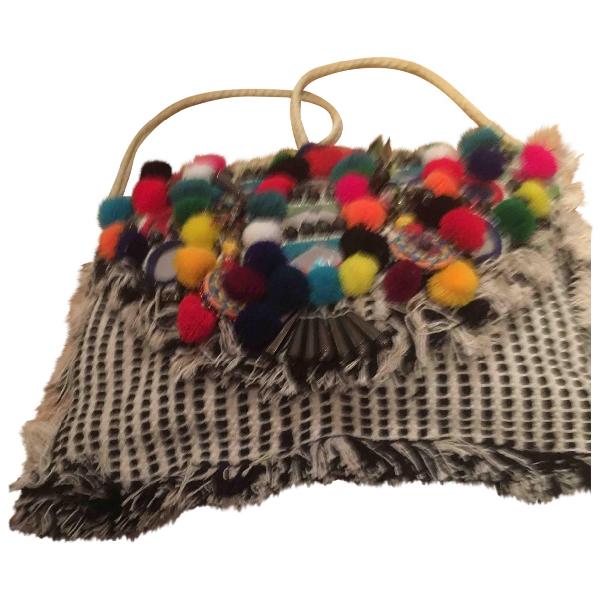 Antik Batik Ecru Cotton Handbag