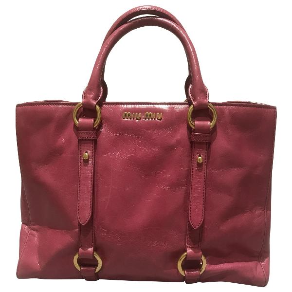Miu Miu Pink Leather Handbag