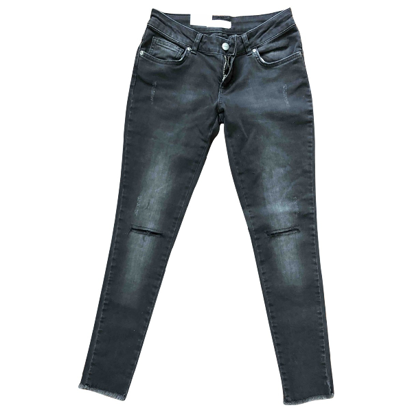 Anine Bing Anthracite Cotton Jeans