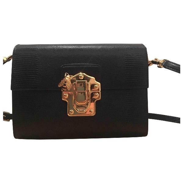 Dolce & Gabbana Lucia Black Leather Handbag